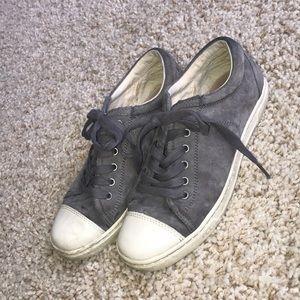 Gray Suede Ugg sneakers